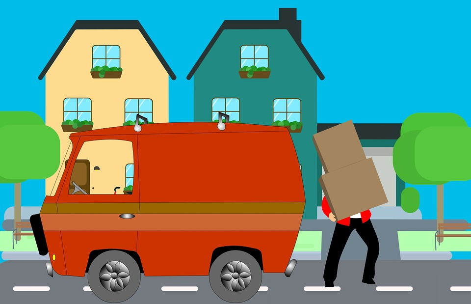 person moving homes
